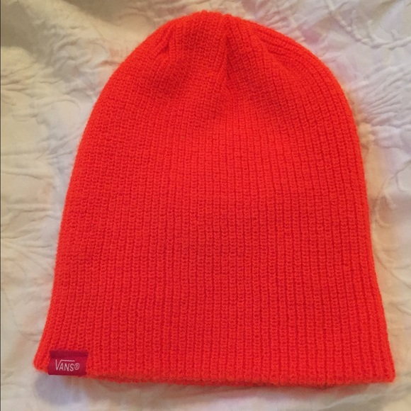 a385f6f4eac Vans Bright Orange Knit Winter Beanie Hat. M 5692639a981829de190006f0