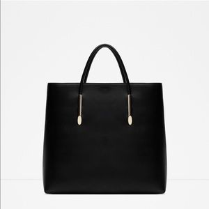 Zara Rigid Tote Bag