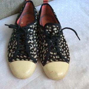Boden calf hair sneakers
