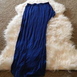 Dresses & Skirts - Blue mini-maxi skirt