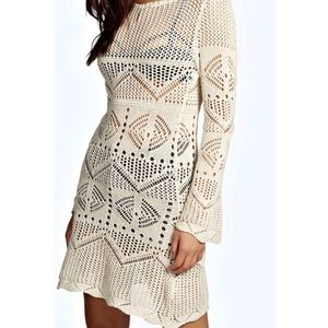 See through knit cover up dress NWT S/M