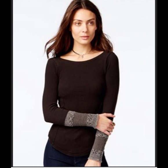 54180a39 Free People Tops | Rosie Cuff Thermal Top New Wtags | Poshmark