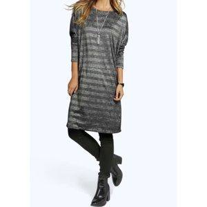 Loose fit luxurious daily tee dress NWT - S or M/L