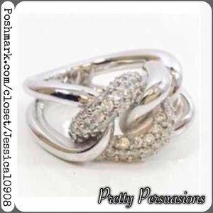 Swarovski Jewelry - NWT Swarovski Silver Sparkling Statement Ring