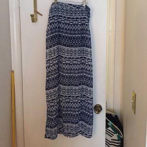 Forever 21 Dresses & Skirts - Blue and White Tribal Print Skirt