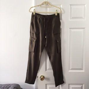 Olive utility pants