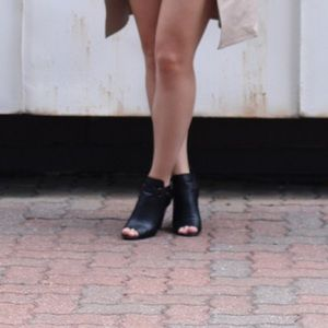 Shoes - Peep-toe booties