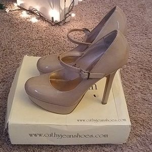 4deb68e9e59 Cathy Jean Shoes - Cathy Jean Mary Jane Style Beige Heels