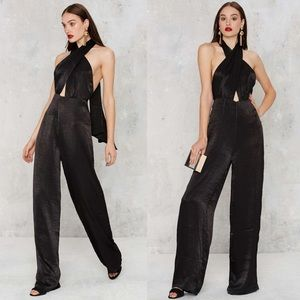 Nasty Gal Pants - [Nasty Gal]heaven on earth pussybow jumpsuit