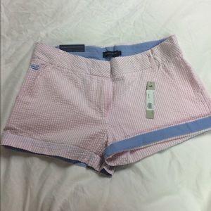 Pants - Southern Marsha pink seersucker shorts