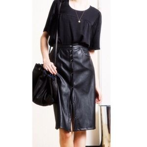 Loup Dresses & Skirts - Streep Vegan Leather Skirt, NWT