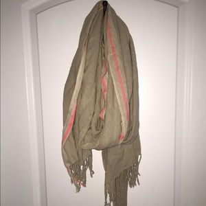 Tan and pink Zara scarf