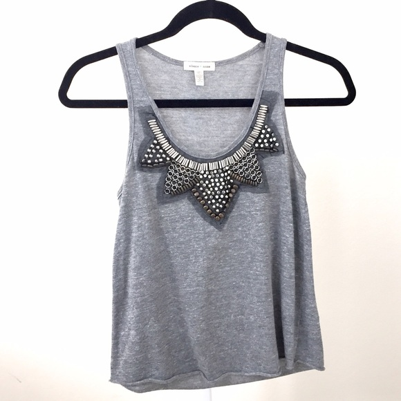 Urban Outfitters Tops - Like NEW Silence & Noise embellished grey top