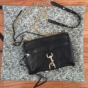 Rebecca Minkoff black mini Mac cross body bag