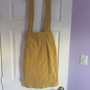 High Waisted Vintage Overall Skirt
