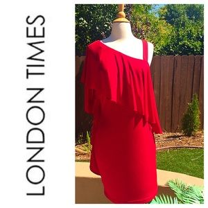 London Times Dresses & Skirts - Red Dress