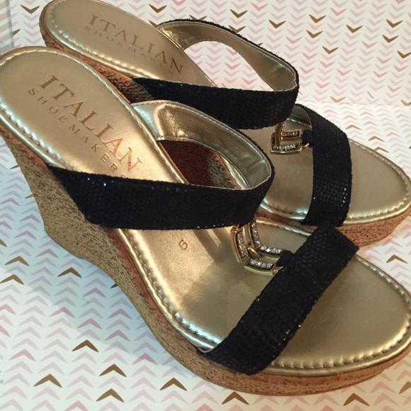 788437fa4c1a Italian Shoemakers Shoes - Italian Shoemakers Aida Wedge Sandal - Black