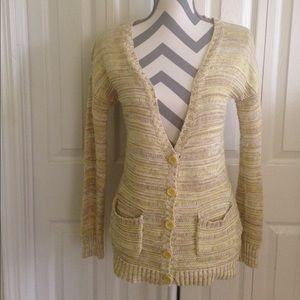 Olive & Oak Yellow & Beige Cardigan