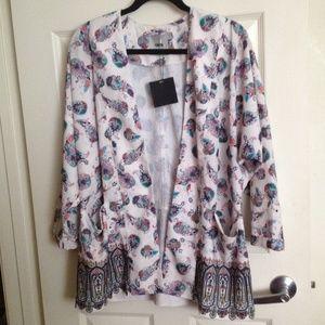 ASOS Jackets & Blazers - Asos Paisley Printed Silky Kimono
