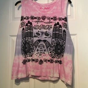 Tie Dye Graphic Muscle Tee
