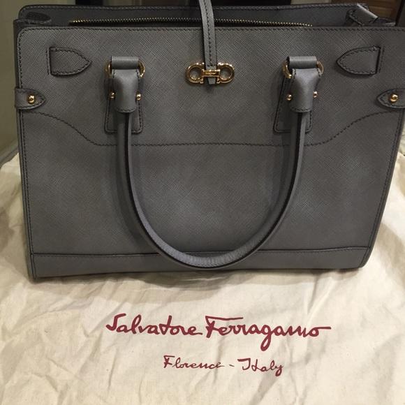 0607890cf023 Salvatore Ferragamo Briana grey handbag