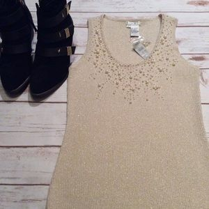Cache Tops - 🌹 Host Pick NWT Cache Top with Pearls Size Large