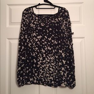 LC Lauren Conrad Tops - Black & White Butterfly Top