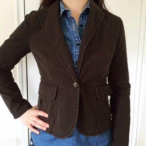 Casual cotton brown Banana Republic blazer