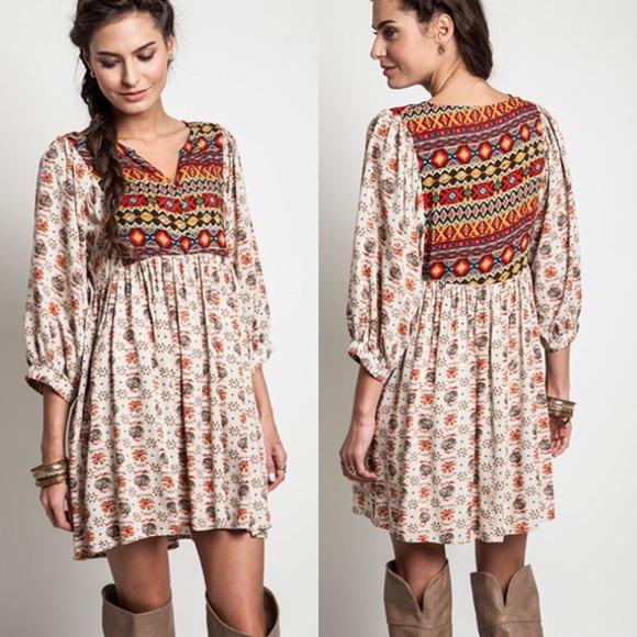 d36d7688bdc Dresses | Bohemian Babydoll Tunic Dress Top | Poshmark