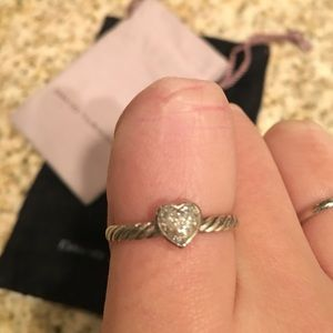 3c018fec575f85 David Yurman Jewelry | Cable Collectibles Heart Ring With Diamonds ...