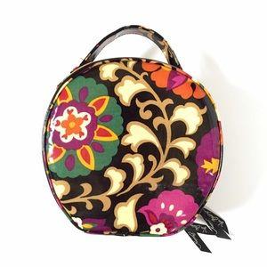 Vera Bradley hatbox cosmetic bag