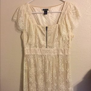 Akualani Dresses & Skirts - Cream colored fringe dress
