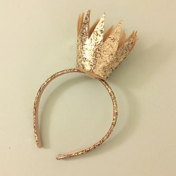 H M Accessories - Gold Glitter Crown Headband 7e5bdfa1c99
