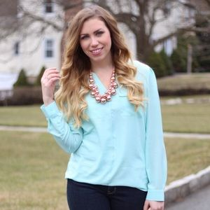 Mossimo Supply Co Tops - Mint Long Sleeve Blouse
