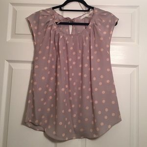 LC Lauren Conrad Tops - * REDUCED * Pastel Polka Dot Blouse