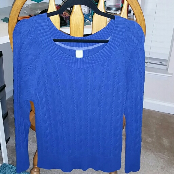 54% off jcpenney Sweaters - Royal Blue Cable Knit Sweater from ...