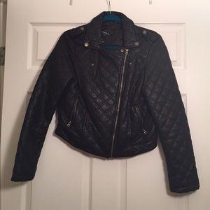 Aeropostale Jackets & Coats - Black Quilted Moto Jacket