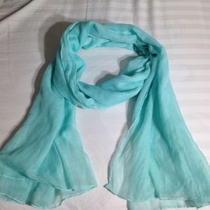 Turquoise Light Breezy Gauze Scarf