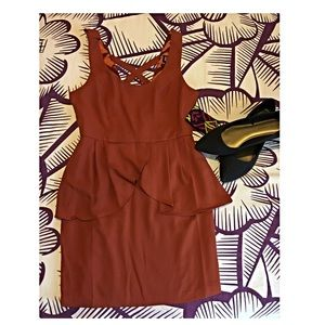 Nordstrom Dresses & Skirts - HP•Orange peplum dress•