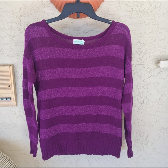 57% off Dream Out Loud by Selena Gomez Sweaters - Purple Striped ...