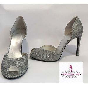 Stuart Weitzman Shoes - Stuart Weitzman Silver Divorcee Glitter Pumps
