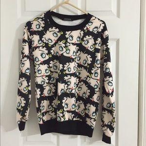 ROMWE Sweaters - Betty Boop Sweater