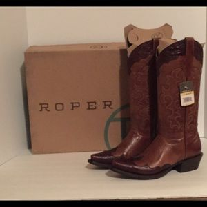 New Roper Brown Cowgirl Boots size 7🔴Last Chance