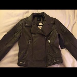 Brand new Forever 21 olive motorcycle jacket Sz S