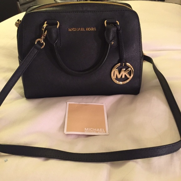 8c8f8619deabb Michael Kors Small Black Saffiano Satchel. M_5693514915c8afcdc805f73a.  Other Bags ...