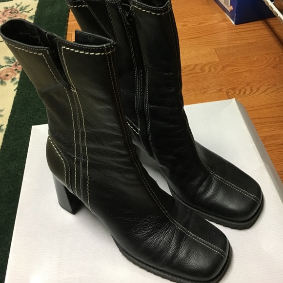 92% off Shoes - Black above ankle boots from Bernadette's closet ...