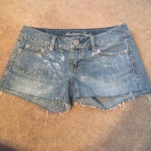 American Eagle Outfitters Pants - American Eagle Glitter shorts