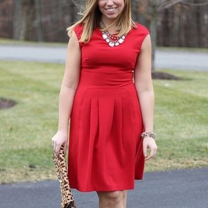 London Times Dresses & Skirts - Red Knee Length A Line Dress