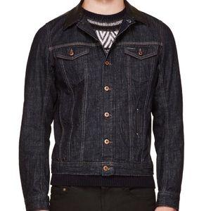 6c25a80c8c016 Diesel Jackets   Coats - Diesel Denim Leather Collar Jacket