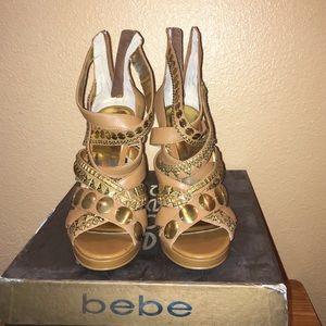 Brand new Bebe studded sandals LARISSA 8M